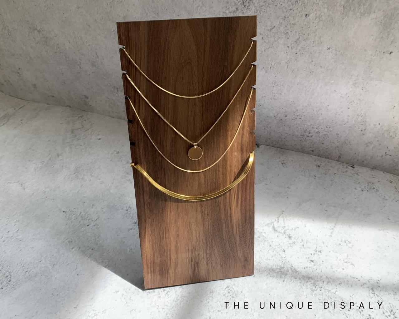 jewelry display case, jewelry display stand, jewelry necklace organizer, necklace stand, necklace holder, jewelry holder, wood display stand, 717