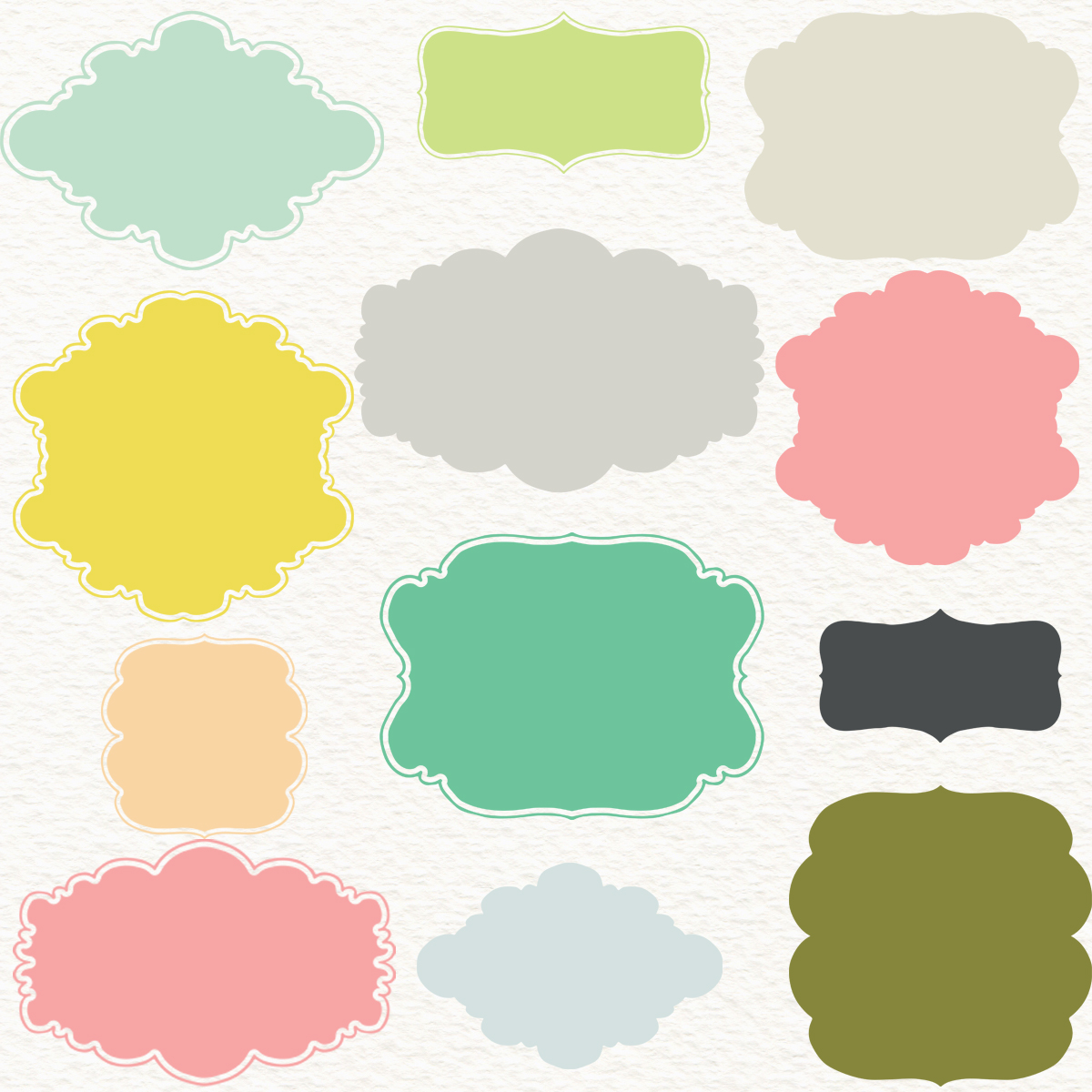 pastel frames clipart digital frames pastel frames pack with rh luulla com Cute Clip Art Pastel Blue Clip Art