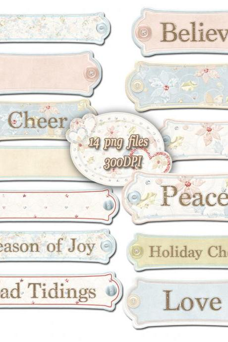 Digital Banners - Clip Art Labels , Wedding Bouquets, Clip Art Scrapbooking, Wedding Invite, PNG,digital paper for blog banner